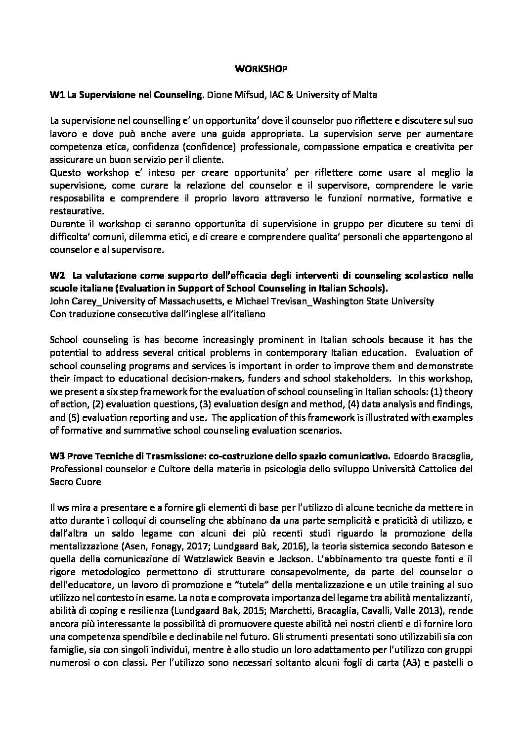 14/10/17 a Villafranca,  Seminario Internazionale sul Counseling Gratuito  Hotel Expo, Villafranca (VR) allegati pdf sul nostro BLOG