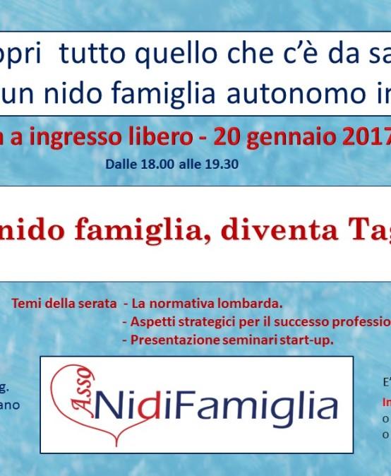 """20/01/2017 – Conferenza a ingresso libero """"AssoNidiFamiglia"""""""