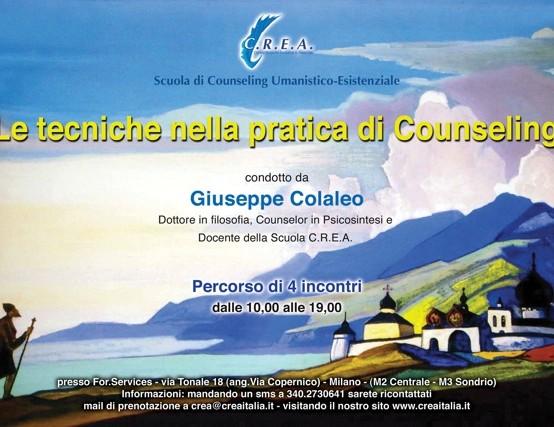 """""""le tecniche nella pratica di Counseling"""" G.Colaleo"""